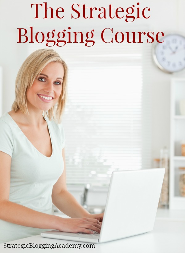 The Strategic Blogging Intensive Course - a 12 week course designed to help bloggers increase traffic and monetize their blog