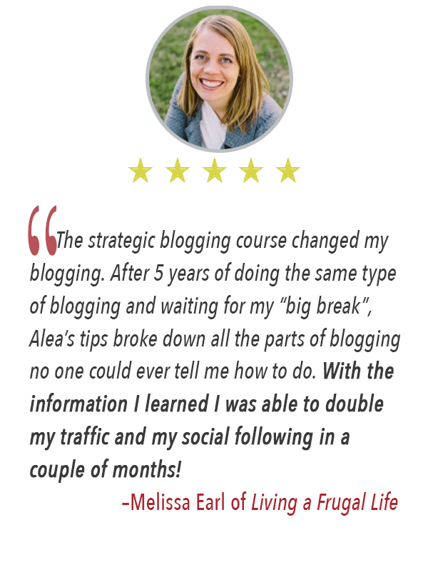 The benefits of the Strategic Blogging Course