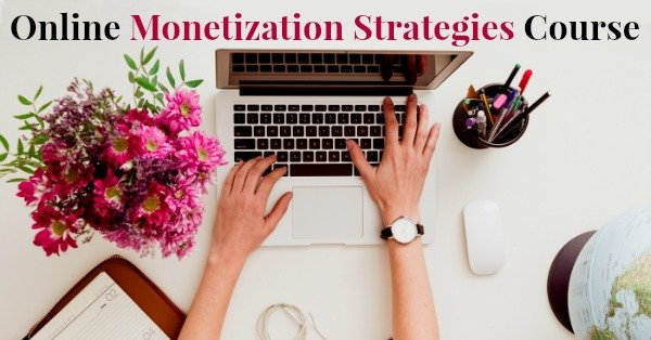 online monetization strategies course desk top with computer